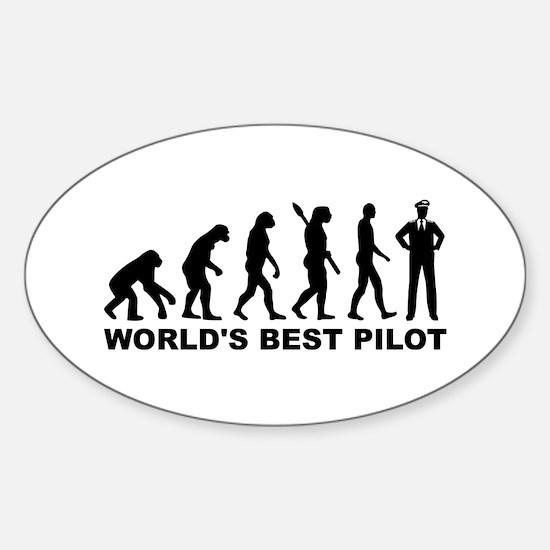 Evolution world's best Pilot Sticker (Oval)