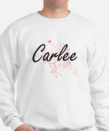 Carlee Artistic Name Design with Butter Jumper