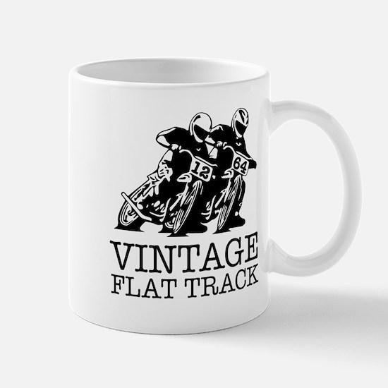 Flat Track One Bike Logo Mugs