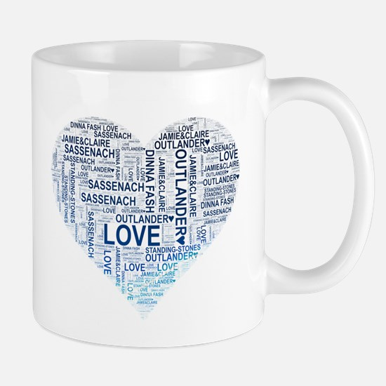 Blue Heart Outlander Mugs