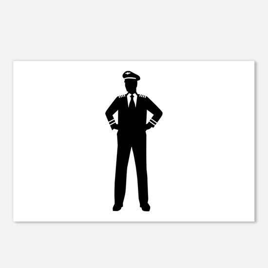 Airline pilot Postcards (Package of 8)