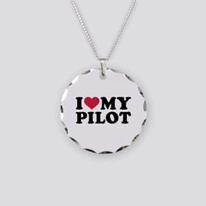 I love my Pilot Necklace Circle Charm