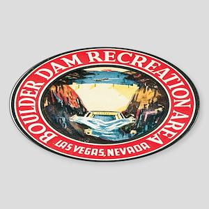 Vintage Boulder Dam Oval Sticker