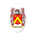 Moskowich Oval Car Magnet