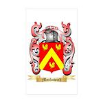 Moskowich Sticker (Rectangle 10 pk)