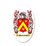 Moskovitch 35x21 Oval Wall Decal
