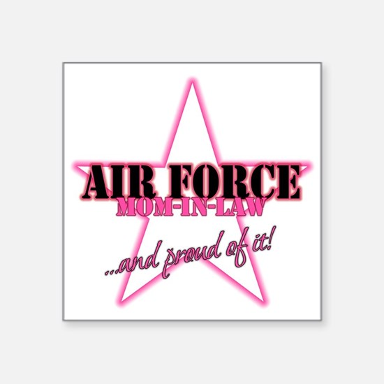 "Unique I love my air force sister Square Sticker 3"" x 3"""