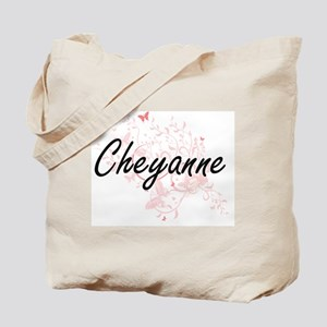 Cheyanne Artistic Name Design with Butter Tote Bag
