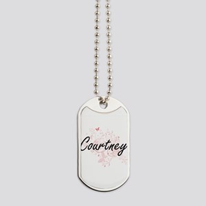 Courtney Artistic Name Design with Butter Dog Tags