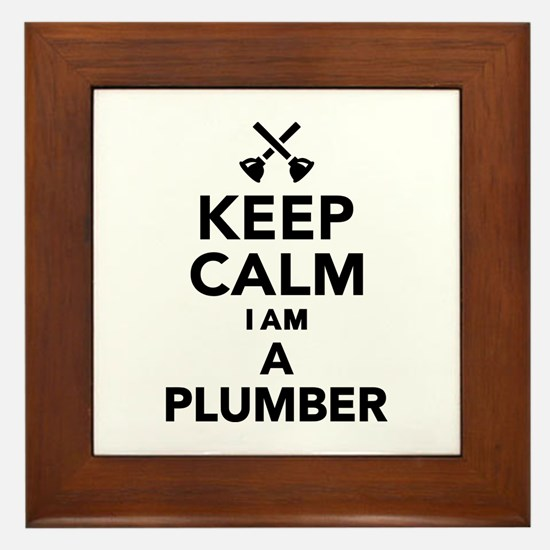 Keep calm I'm a Plumber Framed Tile