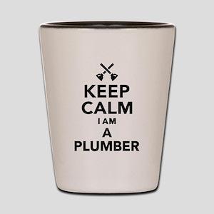 Keep calm I'm a Plumber Shot Glass