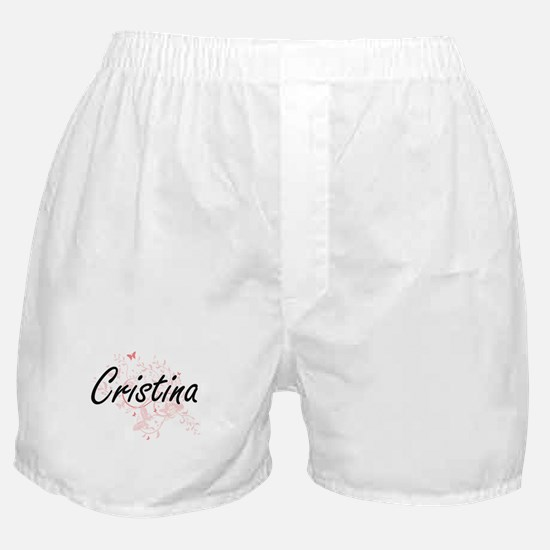 Cristina Artistic Name Design with Bu Boxer Shorts