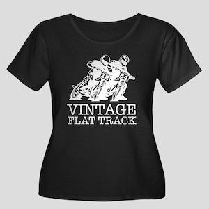 Flat Track White 12 64 Plus Size T-Shirt