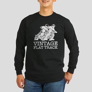 Flat Track White 12 64 Long Sleeve T-Shirt