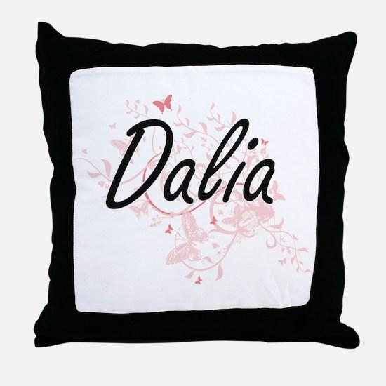 Dalia Artistic Name Design with Butte Throw Pillow
