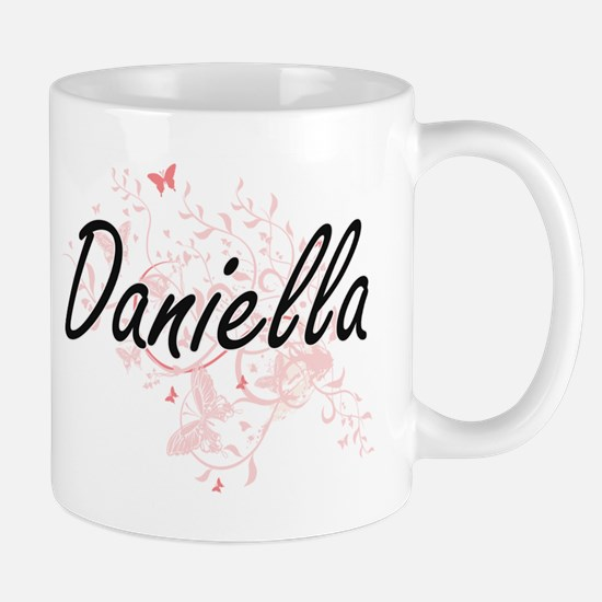 Daniella Artistic Name Design with Butterflie Mugs