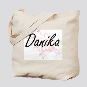 Danika Artistic Name Design with Butterfl Tote Bag
