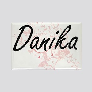 Danika Artistic Name Design with Butterfli Magnets