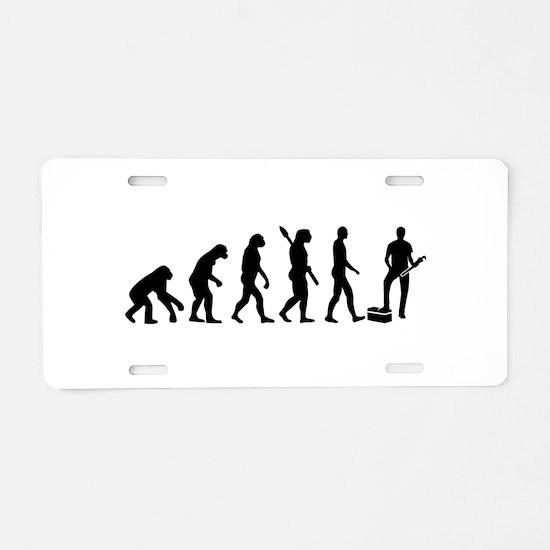 Evolution Plumber Aluminum License Plate