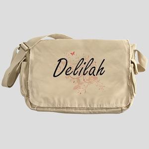 Delilah Artistic Name Design with Bu Messenger Bag