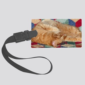 Cat Napping Luggage Tag