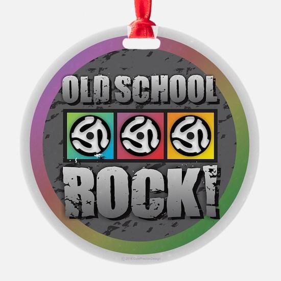 Old School Rock Ornament