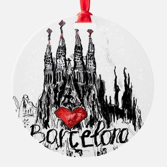 I love Barcelona Ornament