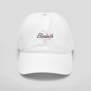 Elisabeth Artistic Name Design with Butterflie Cap