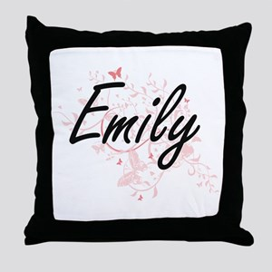 Emily Artistic Name Design with Butte Throw Pillow