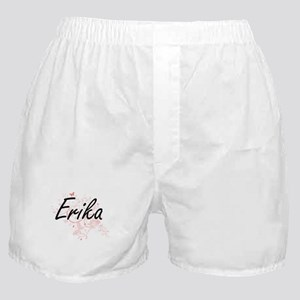 Erika Artistic Name Design with Butte Boxer Shorts