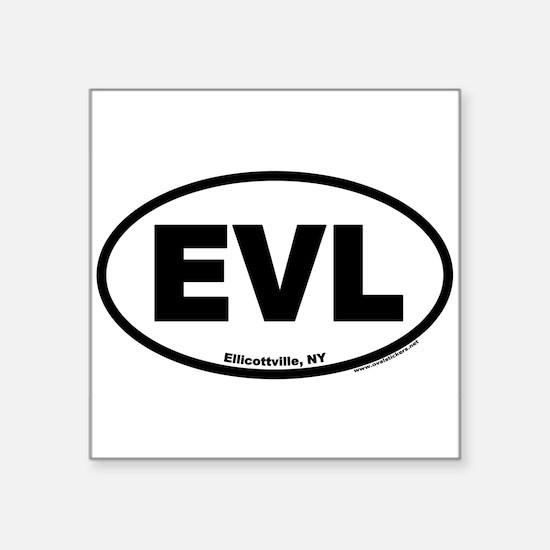 "Cute Ellicottville new york evl euro oval Square Sticker 3"" x 3"""