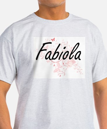 Fabiola Artistic Name Design with Butterfl T-Shirt