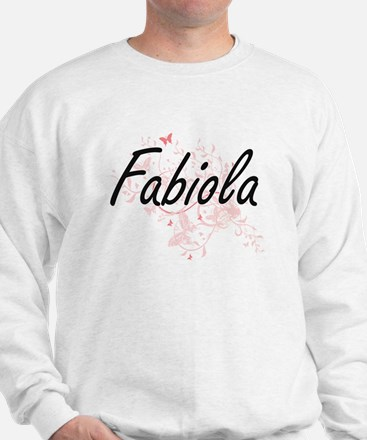 Fabiola Artistic Name Design with Butte Sweatshirt