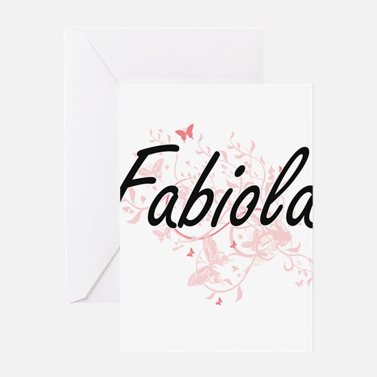 Fabiola Artistic Name Design with B Greeting Cards