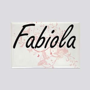 Fabiola Artistic Name Design with Butterfl Magnets