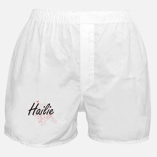 Hailie Artistic Name Design with Butt Boxer Shorts