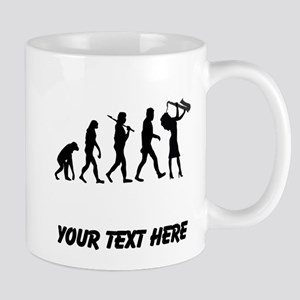 Saxophone Player Evolution (Custom) Mugs