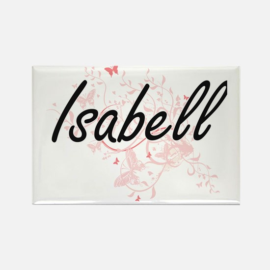Isabell Artistic Name Design with Butterfl Magnets