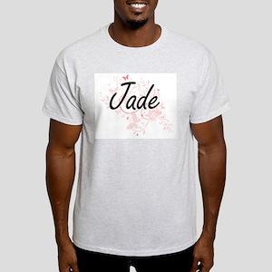 Jade Artistic Name Design with Butterflies T-Shirt