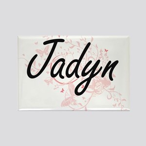 Jadyn Artistic Name Design with Butterflie Magnets