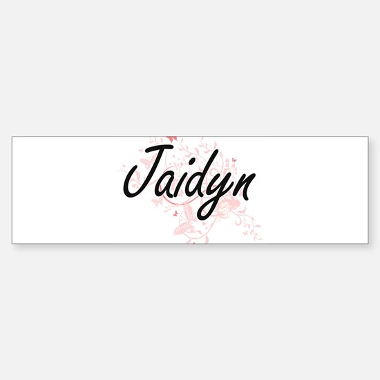 Jaidyn Artistic Name Design with Bu Bumper Bumper Bumper Sticker
