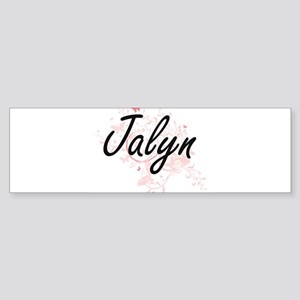 Jalyn Artistic Name Design with But Bumper Sticker