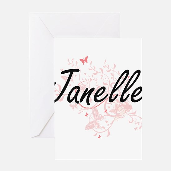 Janelle Artistic Name Design with B Greeting Cards