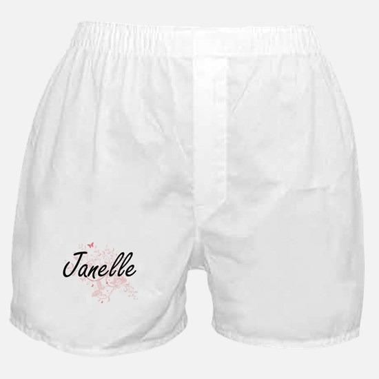 Janelle Artistic Name Design with But Boxer Shorts