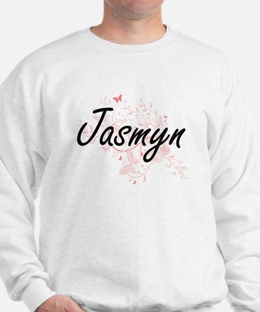 Jasmyn Artistic Name Design with Butter Sweater