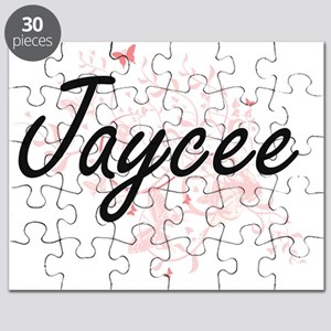 Jaycee Artistic Name Design with Butterflie Puzzle