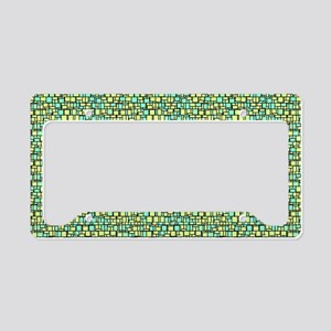 Green Mosaic License Plate Holder