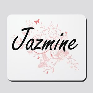 Jazmine Artistic Name Design with Butter Mousepad