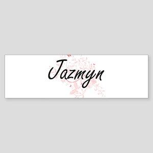 Jazmyn Artistic Name Design with Bu Bumper Sticker