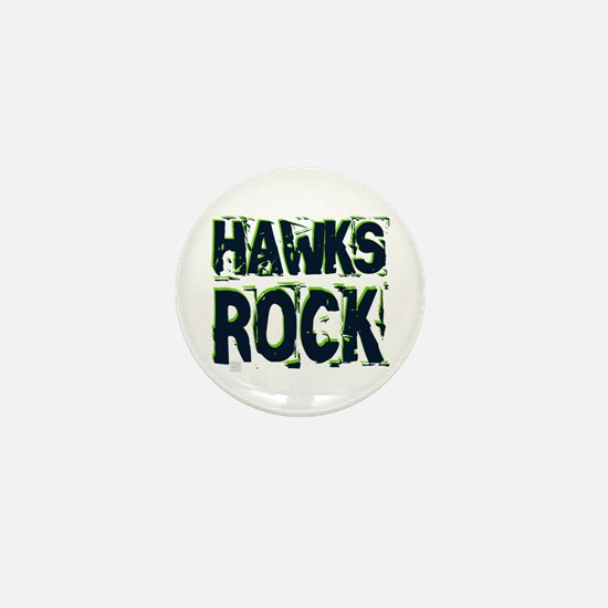 Hawks Rock Mini Button